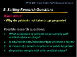 b setting research questions6