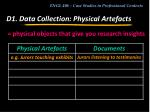 d1 data collection physical artefacts1