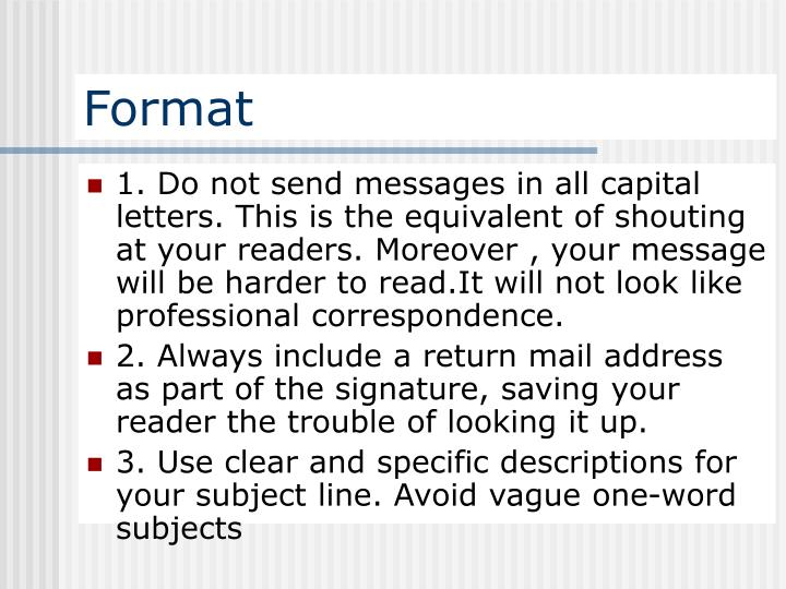 Use All Capital Letters In Messages And Comments