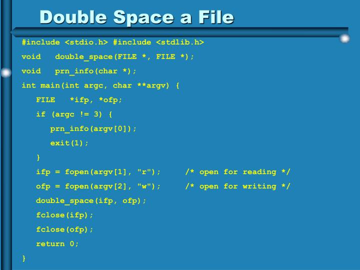 Double Space a File