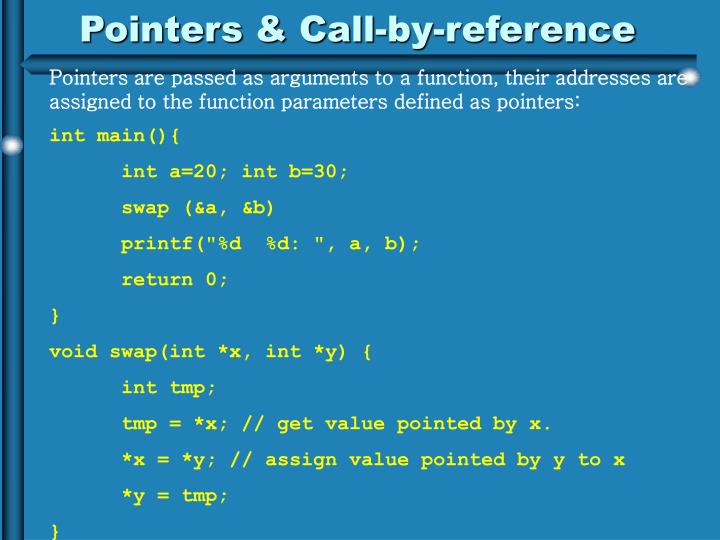 Pointers & Call-by-reference