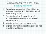 4 3 newton s 2 nd 3 rd laws learning objectives