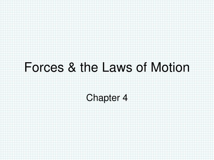 forces the laws of motion