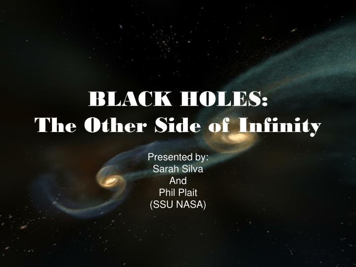 black holes the other side of infinity n.