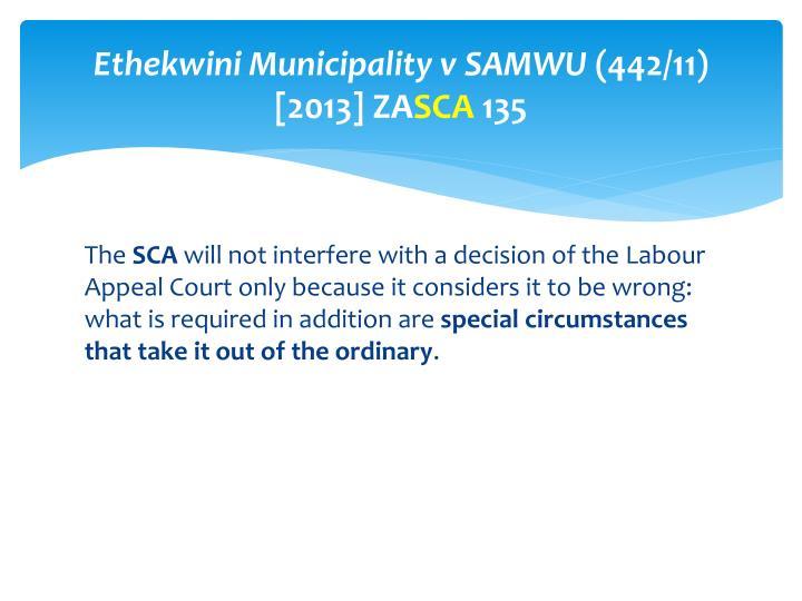 Ethekwini Municipality v SAMWU
