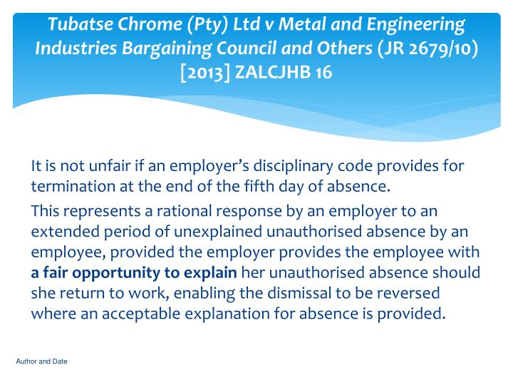 Tubatse Chrome (Pty) Ltd v Metal and Engineering Industries Bargaining Council and Others