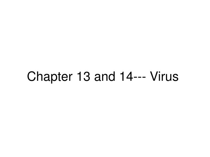chapter 13 and 14 virus n.