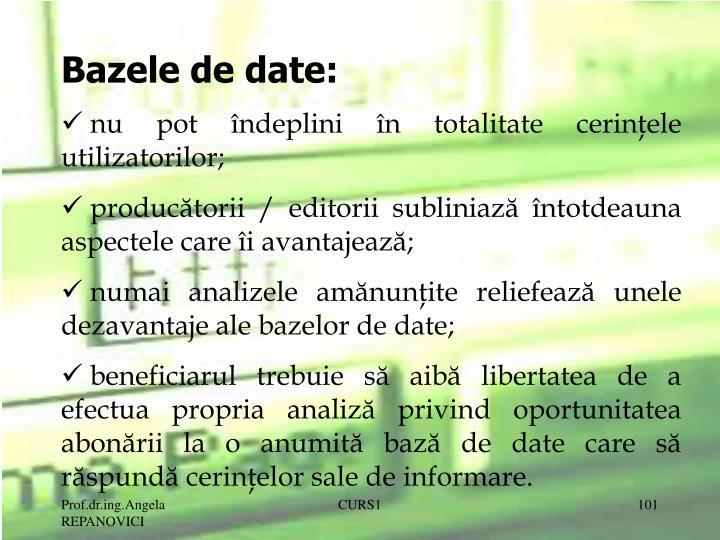 Bazele de date: