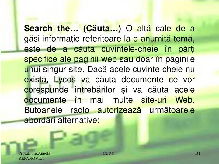 Search the… (C