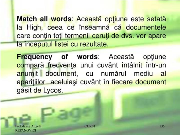 Match all words