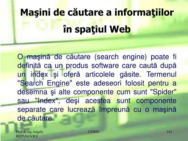 Maşini de căutare a informaţiilor