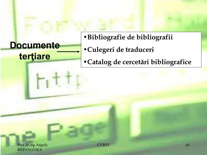 Bibliografie de bibliografii