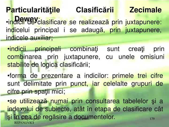Particularităţile Clasificării Zecimale Dewey