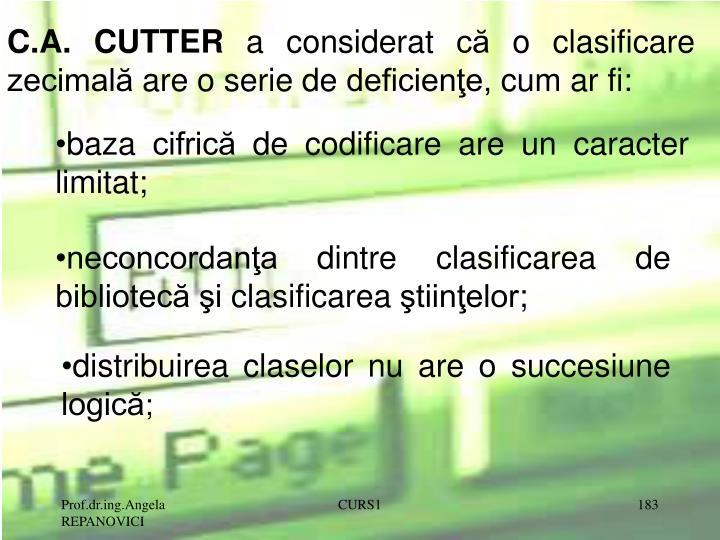 C.A. CUTTER