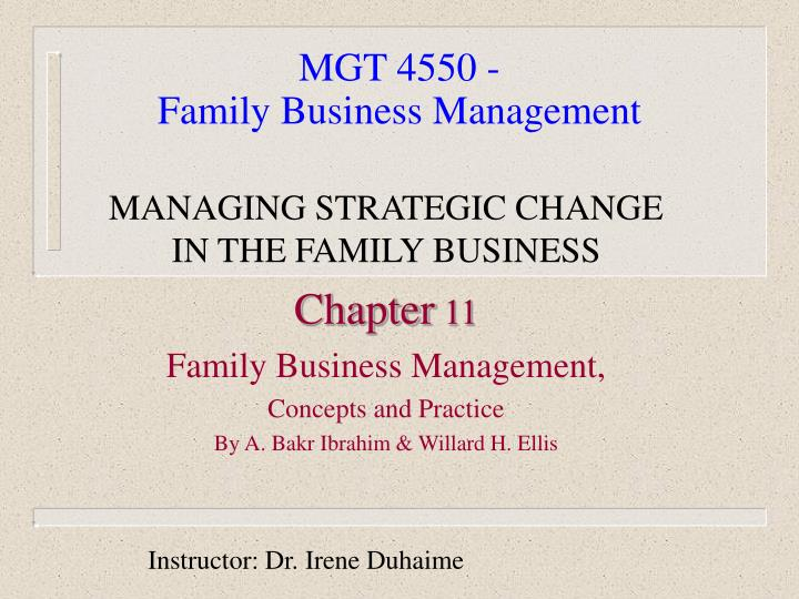 mgt 4550 family business management n.