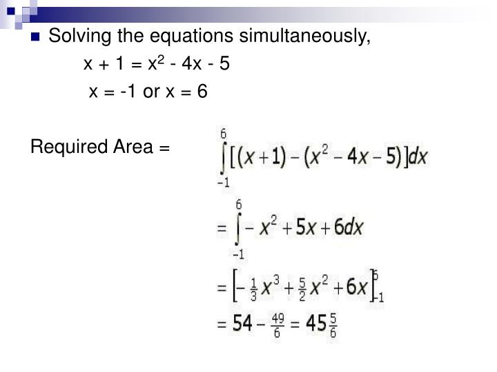 Solving the equations simultaneously,