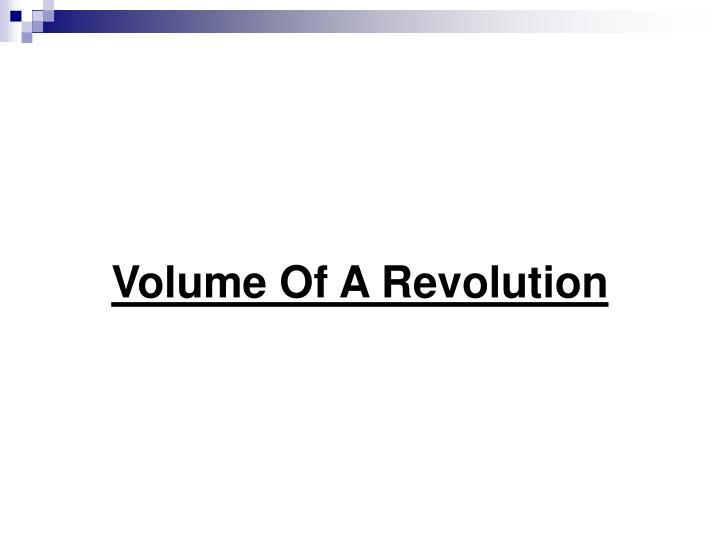 Volume Of A Revolution