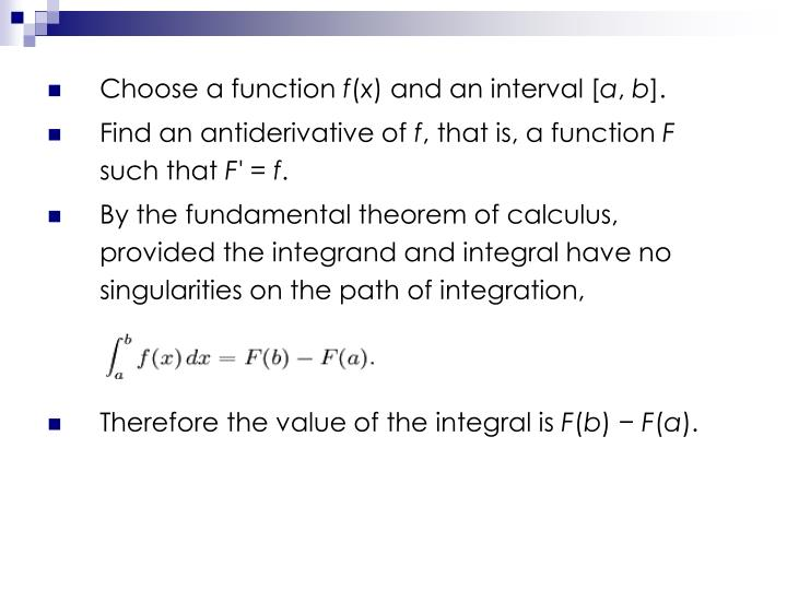 Choose a function
