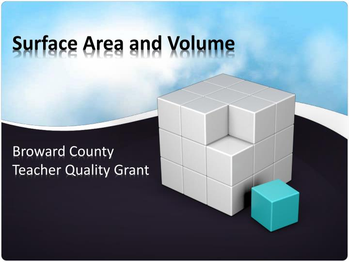 surface area and volume n.