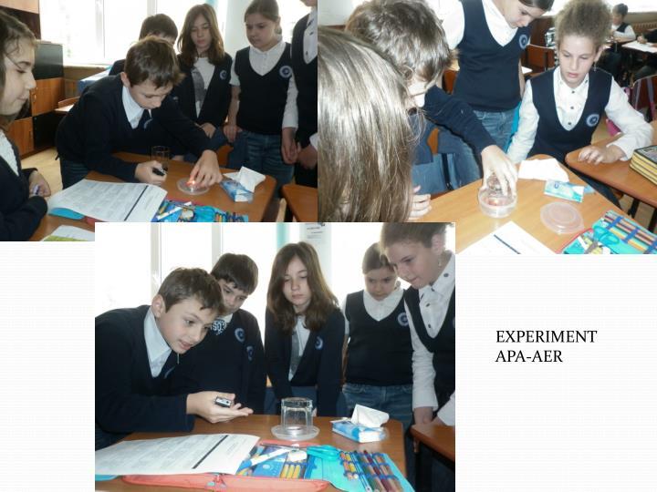 EXPERIMENT  APA-AER