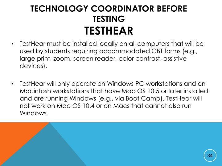 Technology Coordinator Before Testing