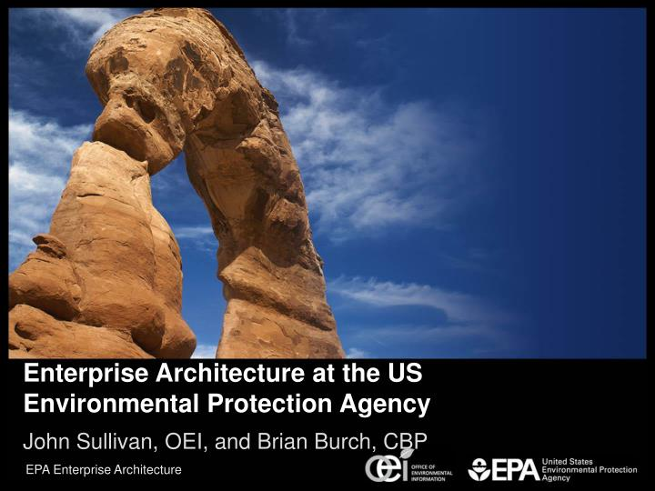 enterprise architecture at the us environmental protection agency n.