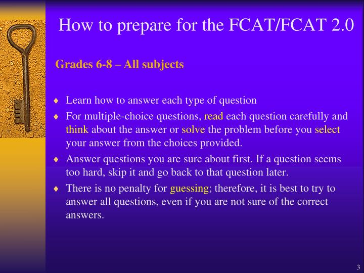 How to prepare for the fcat fcat 2 0