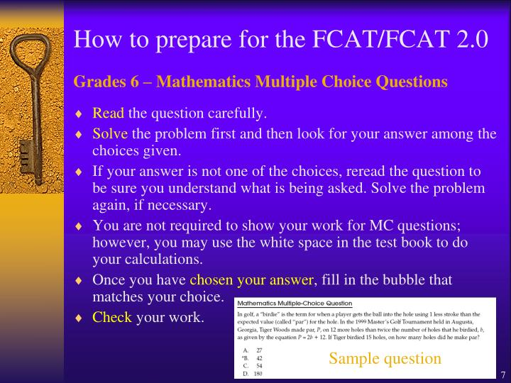 How to prepare for the FCAT/FCAT 2.0