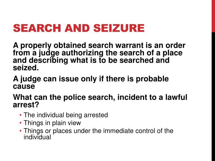Search and Seizure