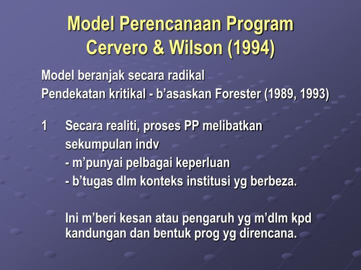 Model Perencanaan Program