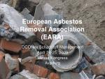 european asbestos removal association eara