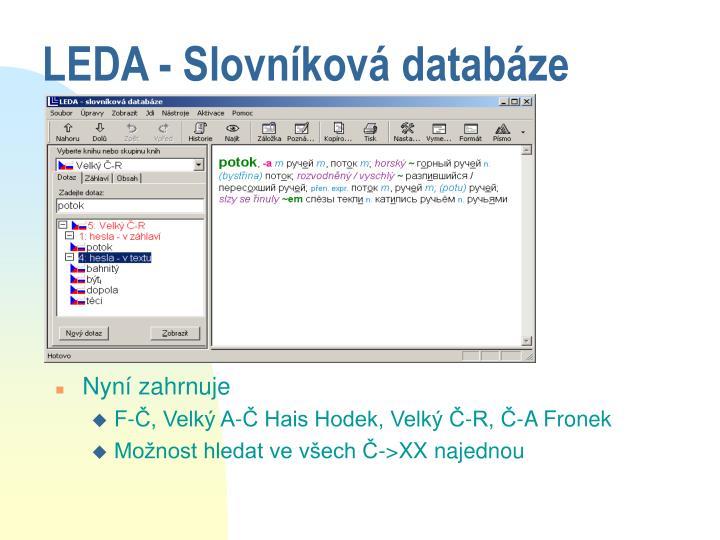 LEDA - Slovníková databáze