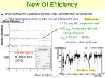 new oi efficiency
