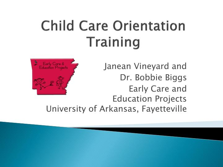 child care orientation training n.
