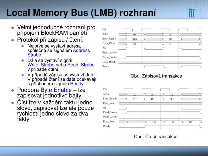 Velmi jednoduché rozhraní pro připojení BlockRAM pamětí
