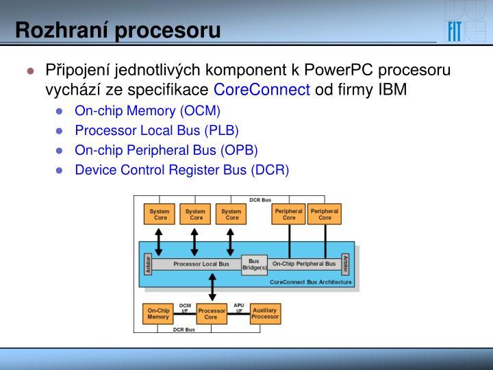 Rozhraní procesoru