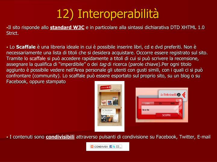 12) Interoperabilità