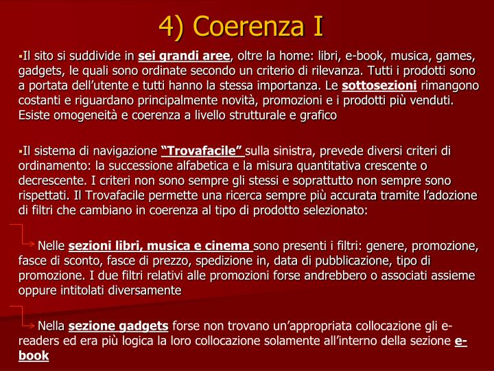 4) Coerenza I