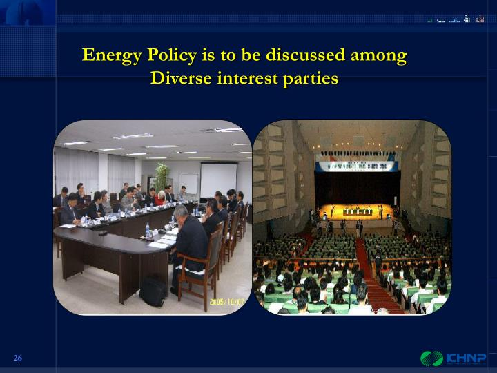 Energy Policy is to be discussed among