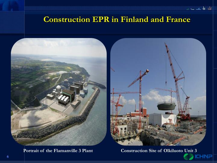 Construction EPR in Finland and France