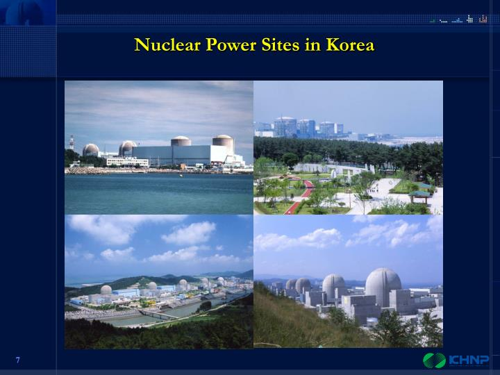 Nuclear Power Sites in Korea