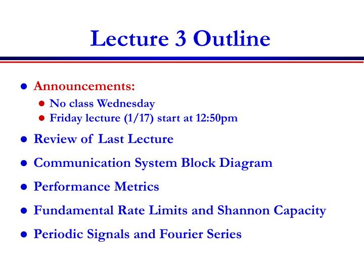 lecture 3 outline n.