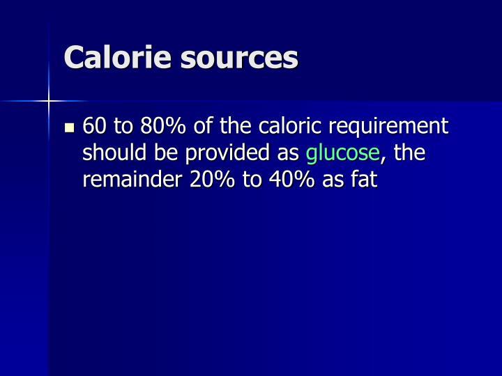 Calorie sources