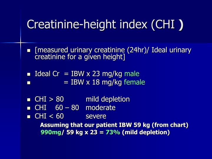 Creatinine-height index (CHI