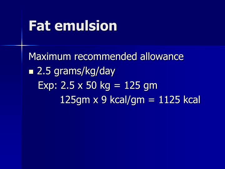 Fat emulsion