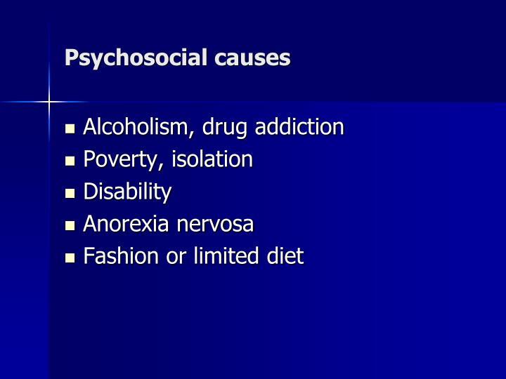Psychosocial causes