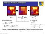 ideal gas pressure calculation