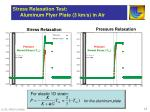 stress relaxation test aluminum flyer plate 3 km s in air
