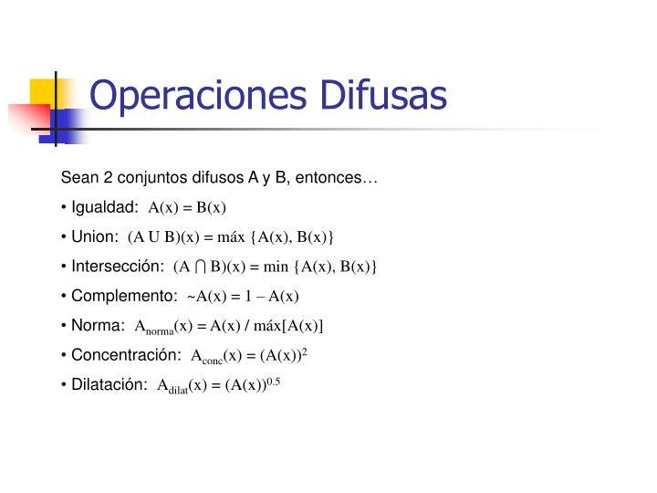 Operaciones Difusas