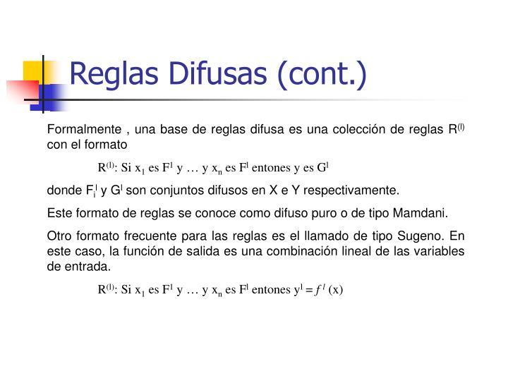 Reglas Difusas (cont.)